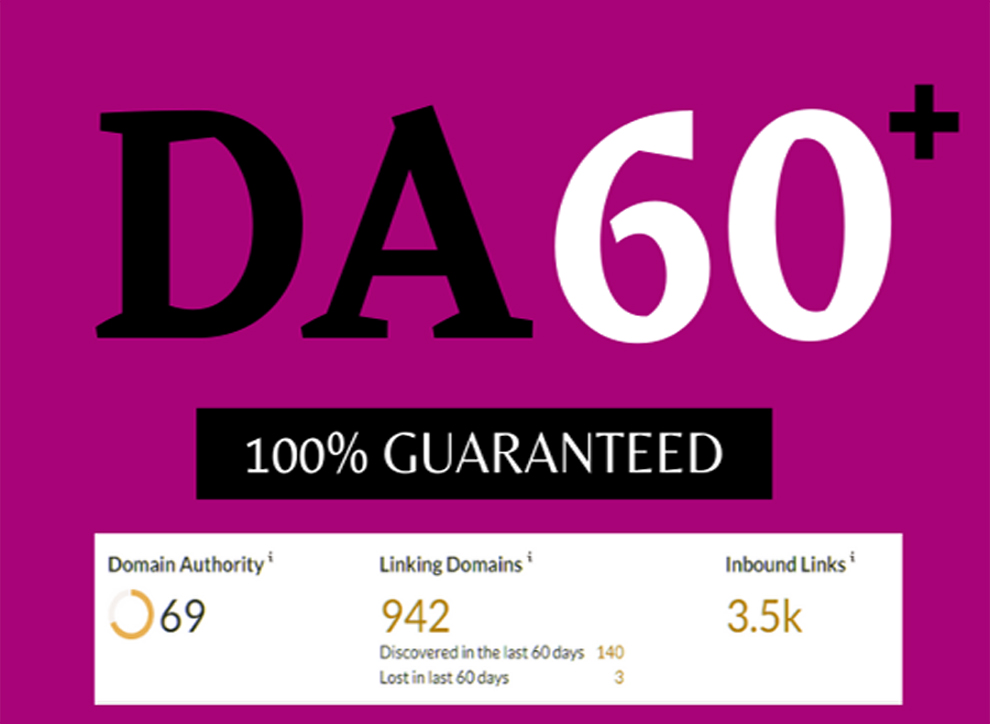 Increase DA to 60+