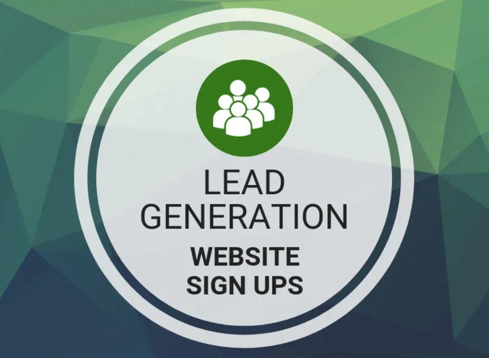 Lead Generation - Website sign ups