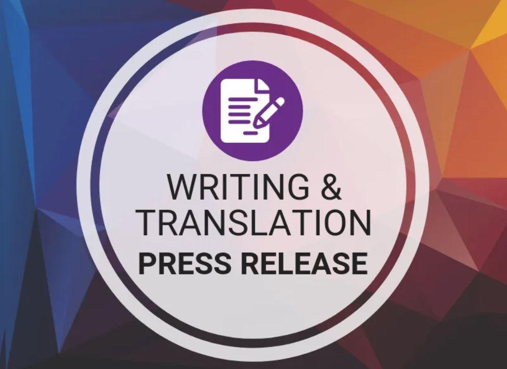 Writing & Translation - Press Release